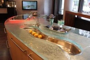 Кухня от стъкло 9
