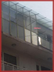 Стъклен покрив на тераса